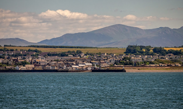 Photo of Maryport with the northern fells in the distance