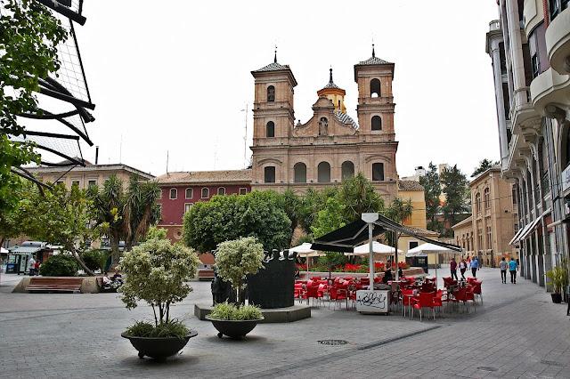 jak wygląda ścisłe centrum Murcja, Hiszpania