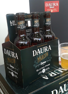 The brand new Märzen gluten free beer from Estrella Damm Daura. It tasted great