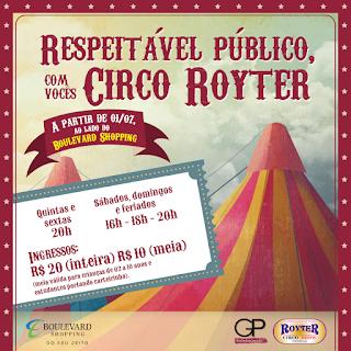Circo Royter no Shopping Boulevard em Vila Velha