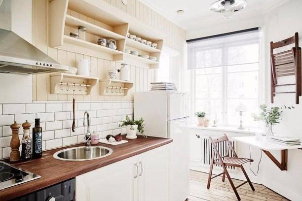 perlatan kitchen set nuansa romantis dan minimalis