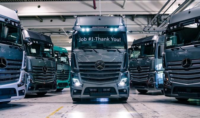 1 de 400: Mercedes-Benz finaliza produção do primeiro Actros Edition 2