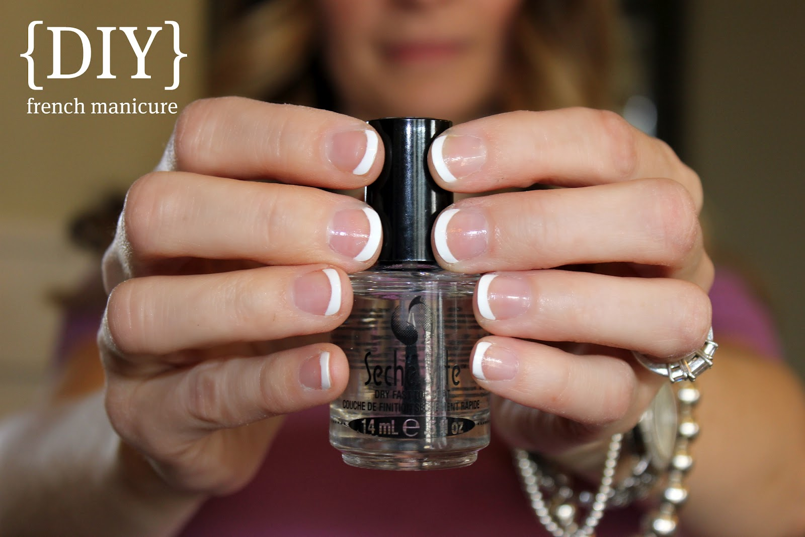 French manicure home blushing basics diy french manicure solutioingenieria Gallery
