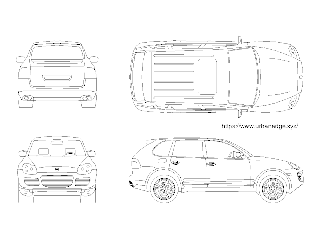 Car cad block download - Porsche Cayenne 2003 Model