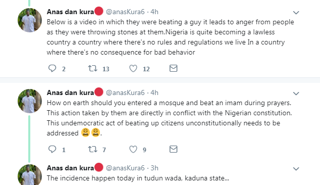 Final Year Cadets Harasses Citizens As Imam Gets Beaten During Prayers In Kaduna