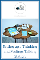 Thinking and Feelings Talking Station Provision area free printable PIN