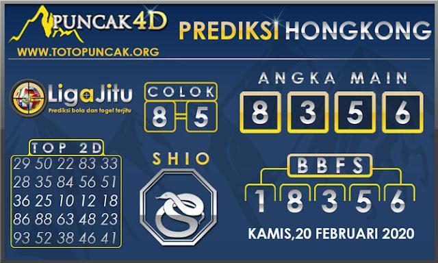 PREDIKSI TOGEL HONGKONG PUNCAK4D 20 FEBRUARI 2020