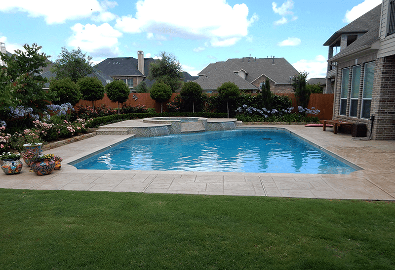 Custom Geometic Inground Pool Builder DFW  2