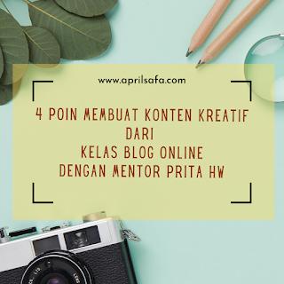 Kelas blog online dengan mentor prita hw