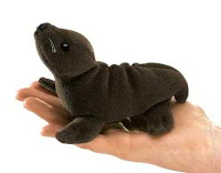 sea lion finger puppet