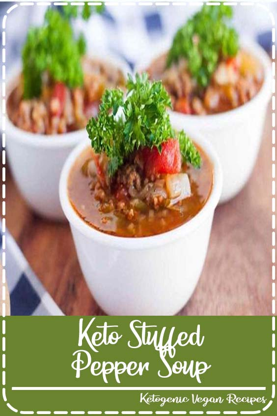 It is the perfect low carb soup recipe that everyone will enjoy Keto Stuffed Pepper Soup
