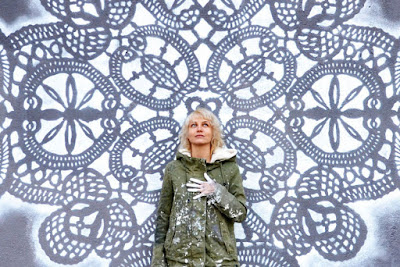 Crochet gigante en la calle arte tejido