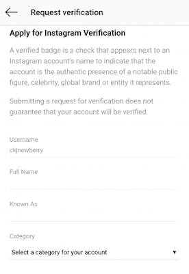 Cara Mendapatkan Terverifikasi/Centang Biru di Instagram 7