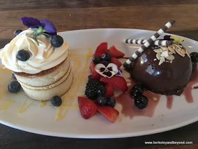 desserts at Cello restaurant at Allegretto Vineyard Resort in Paso Robles, California
