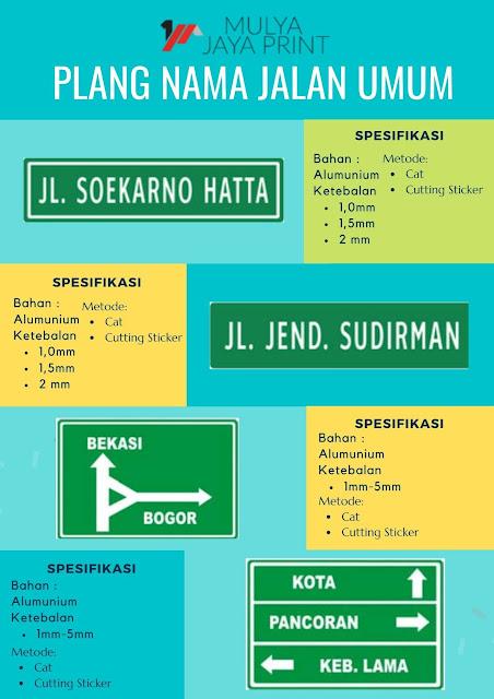 Plang Nama Jalan Umum