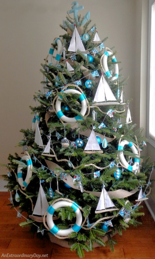 Unique Nautical Christmas Tree