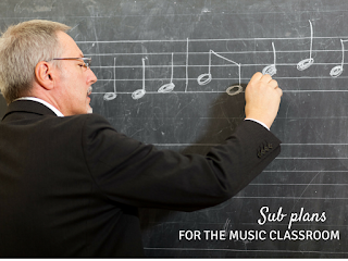 Sub plans for the music classroom: Suggestions for putting together a sub tub, links to great sub plan freebies, and more!