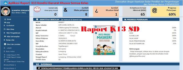 Format Excel! Aplikasi Raport K13 Semua Kelas Masa Pandemi 2020/2021