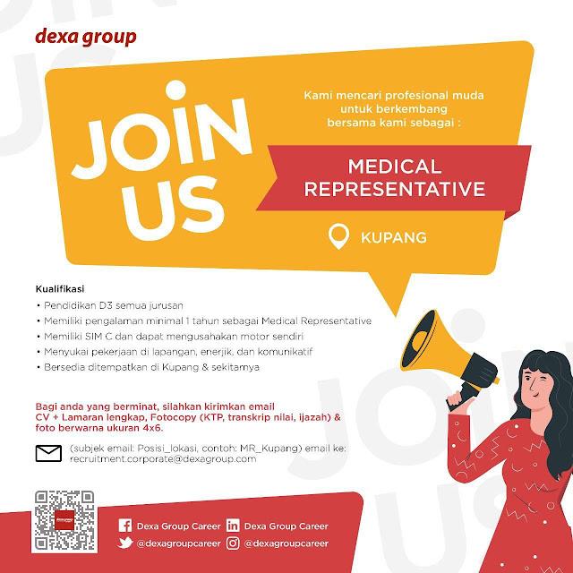Lowongan Kerja Medical Representative di DEXA GROUP