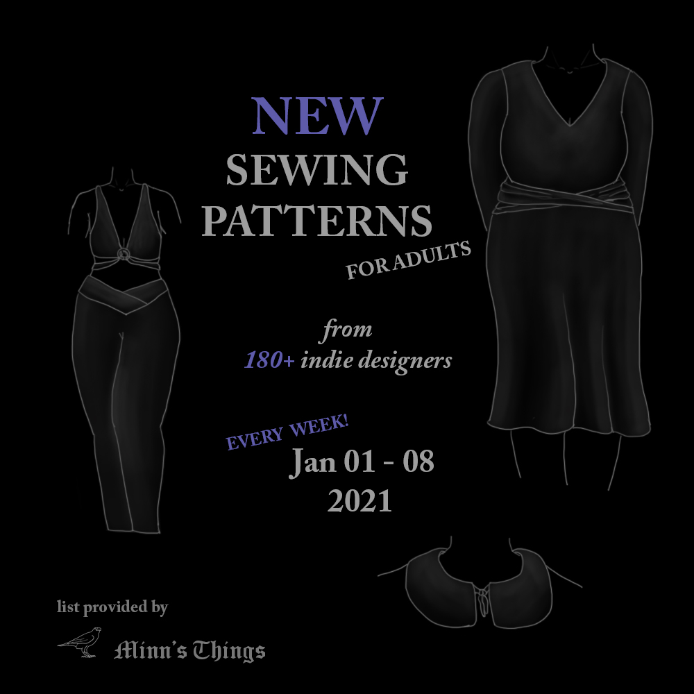 new releases sewing patterns small indie designers 2021 dresses tops coats swim pants trousers joggers