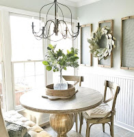 Small round dining table for small farmhouse dining room