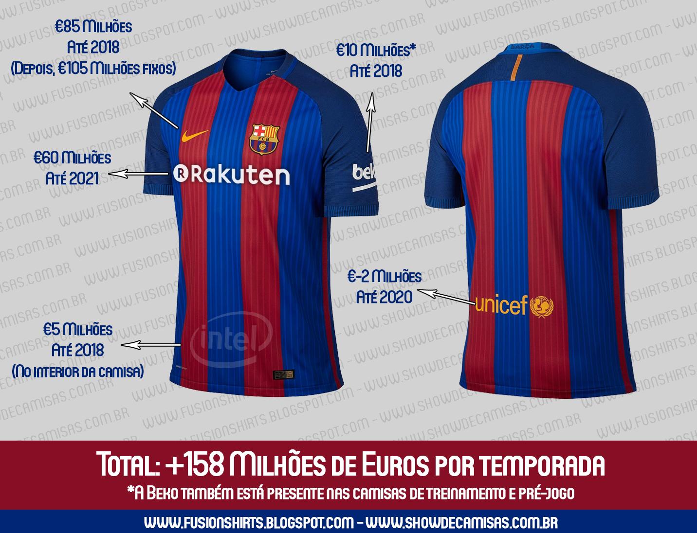 80a28b539cdf9 Compre camisas do Barcelona e de outros clubes e seleções de futebol