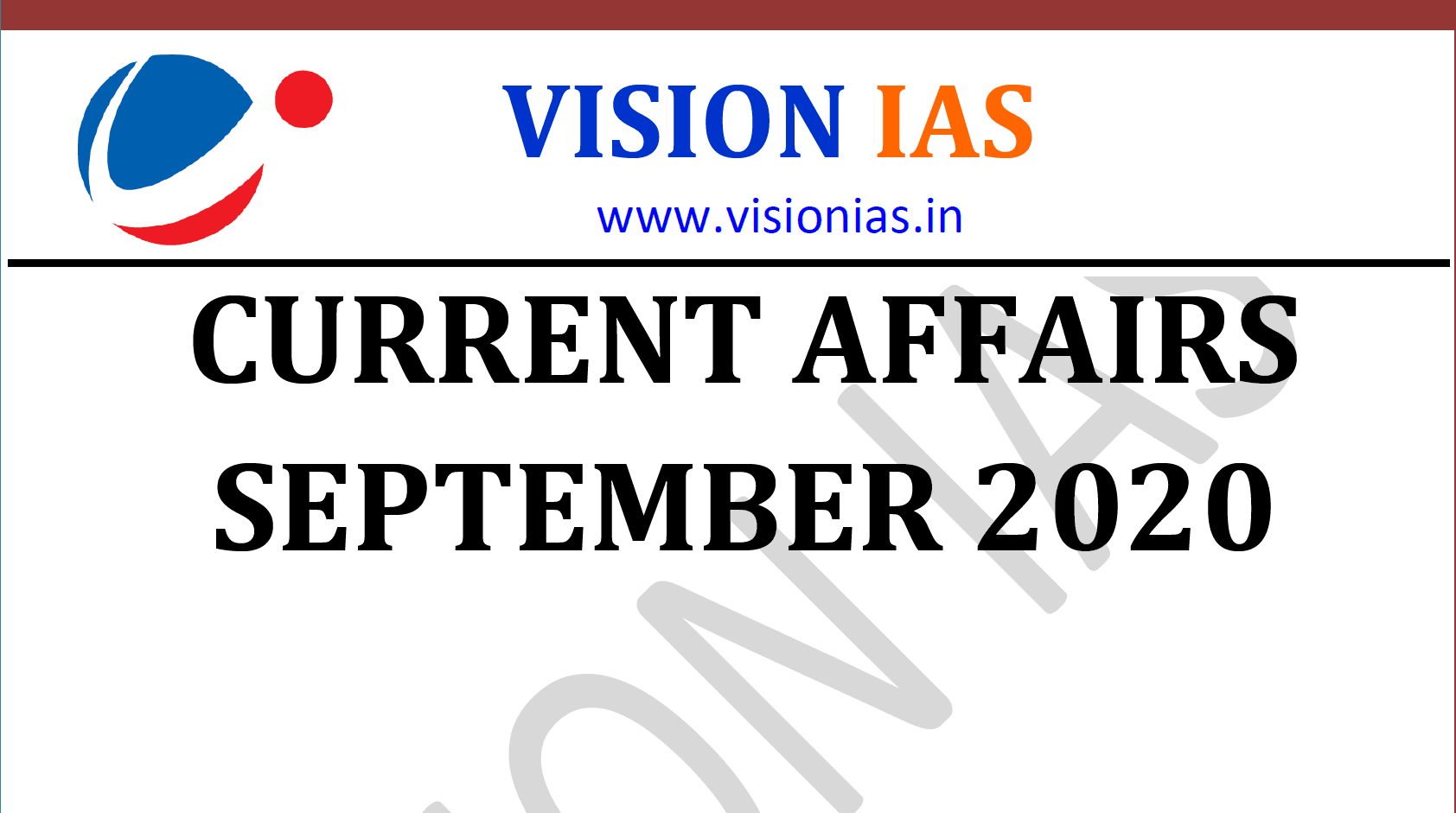 Vision IAS Current Affairs September 2020 pdf