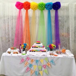Decoración de Fiesta con Telones de Tul