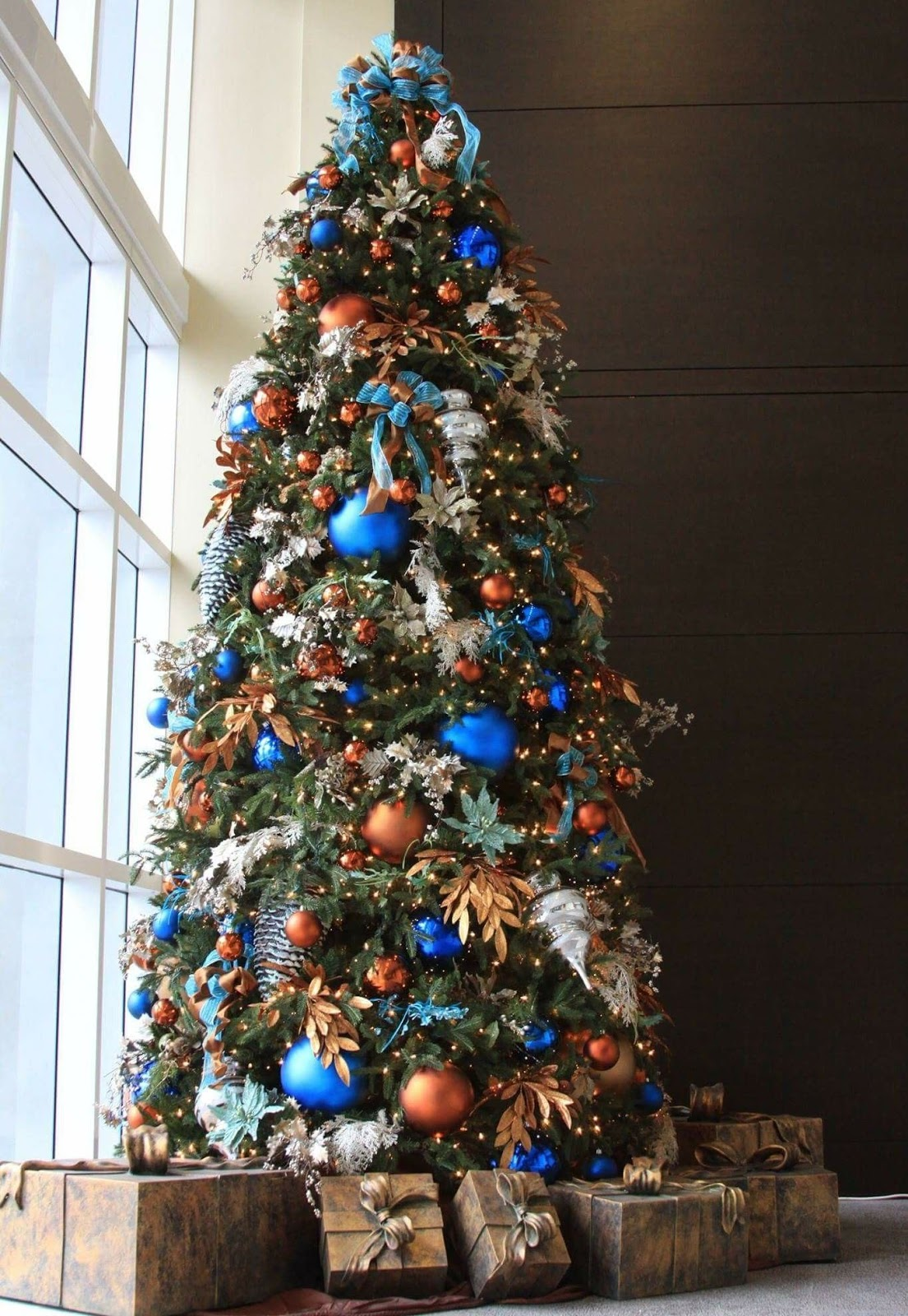 Blue Christmas Tree Ideas to give your holiday adorned home a tranquil vibe wrapped