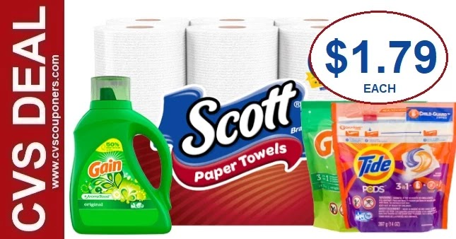Scott Paper Towel CVS Deal 7-11-7-17