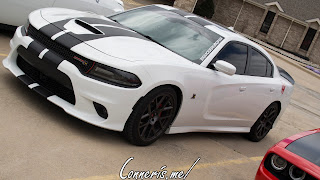 Dodge Charger Hellcat Black on Bright White