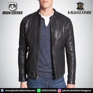 Jual Jaket Kulit Asli Garut Pria Domba Original Brida Leather B74 | WA 08813430588