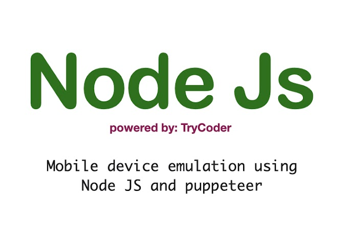 Mobile device emulation using Node JS and puppeteer