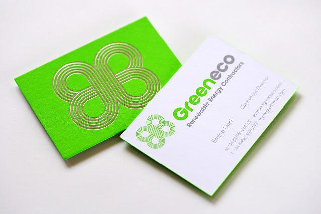 Logo design for Greeneco Renewable Energy Business cards