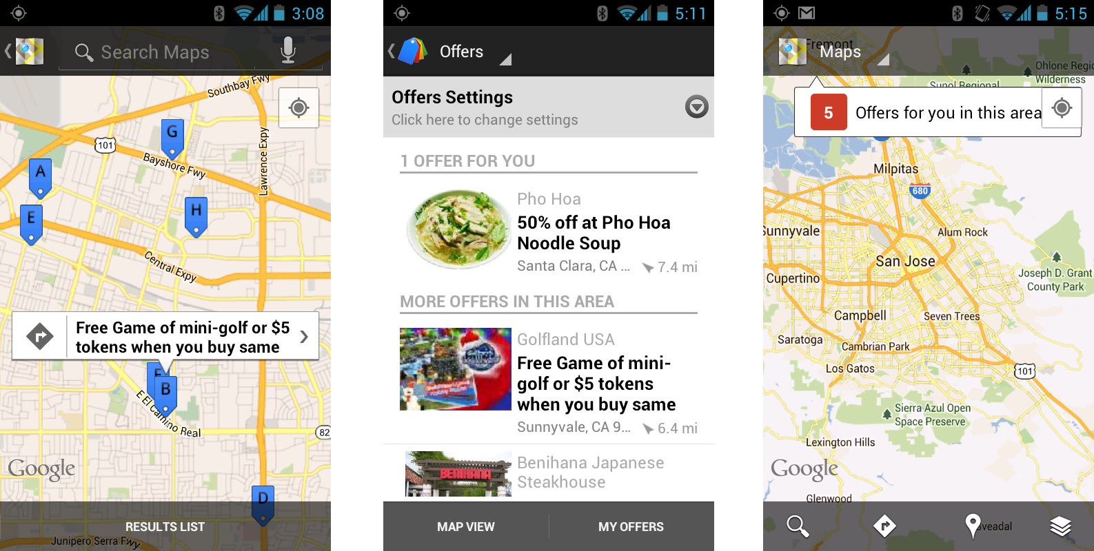 Google Commerce: Discover Google Offers near you in Google