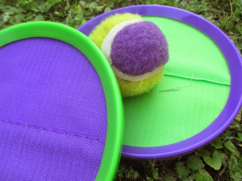 Green and purple Velco Ball set