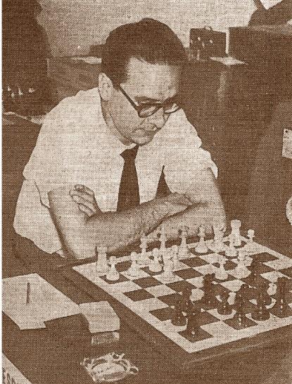 El ajedrecista Pablo Morán Santamaría en 1960