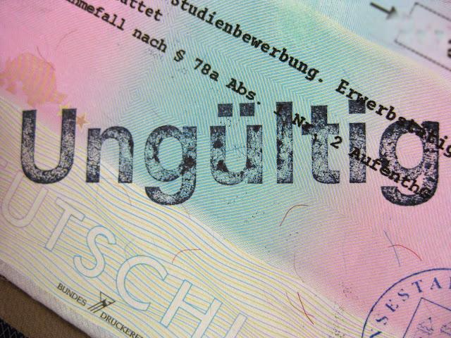 Invalid German visa