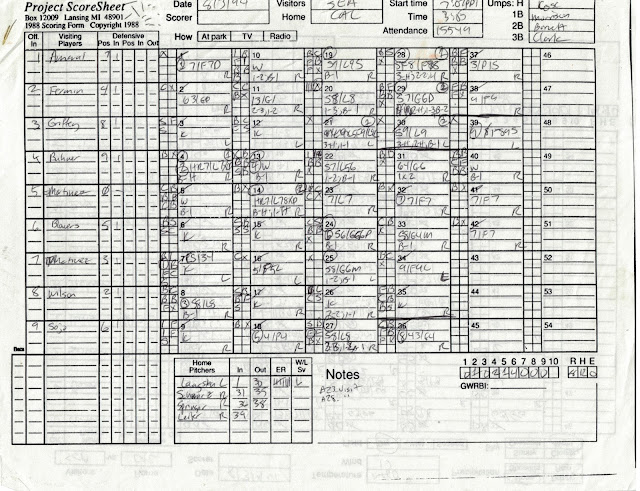 Scoresheet for 1994-08-03 SEA at CAL - Visitors