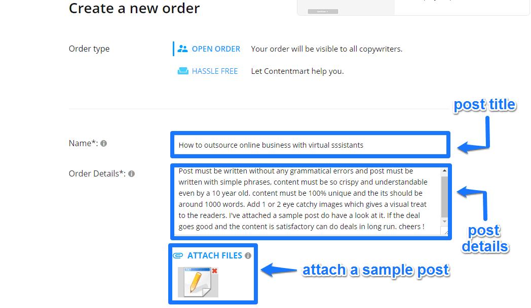contentmart order