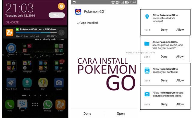Cara Instal Pokemon Go