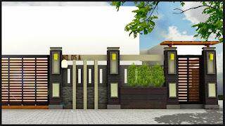 Contoh Bentuk Model Pagar Rumah Minimalis Sederhana