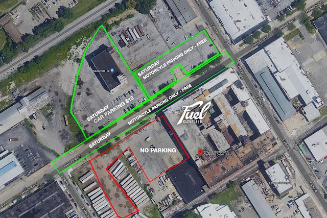 Fuel Cleveland 2021 Parking map