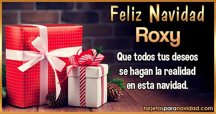 Feliz Navidad Roxy