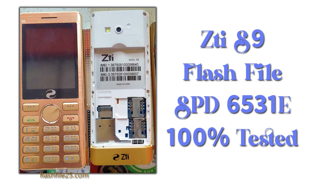 The Zti S9 Flash File is a tested bin file for any of the feature phone flashing tools