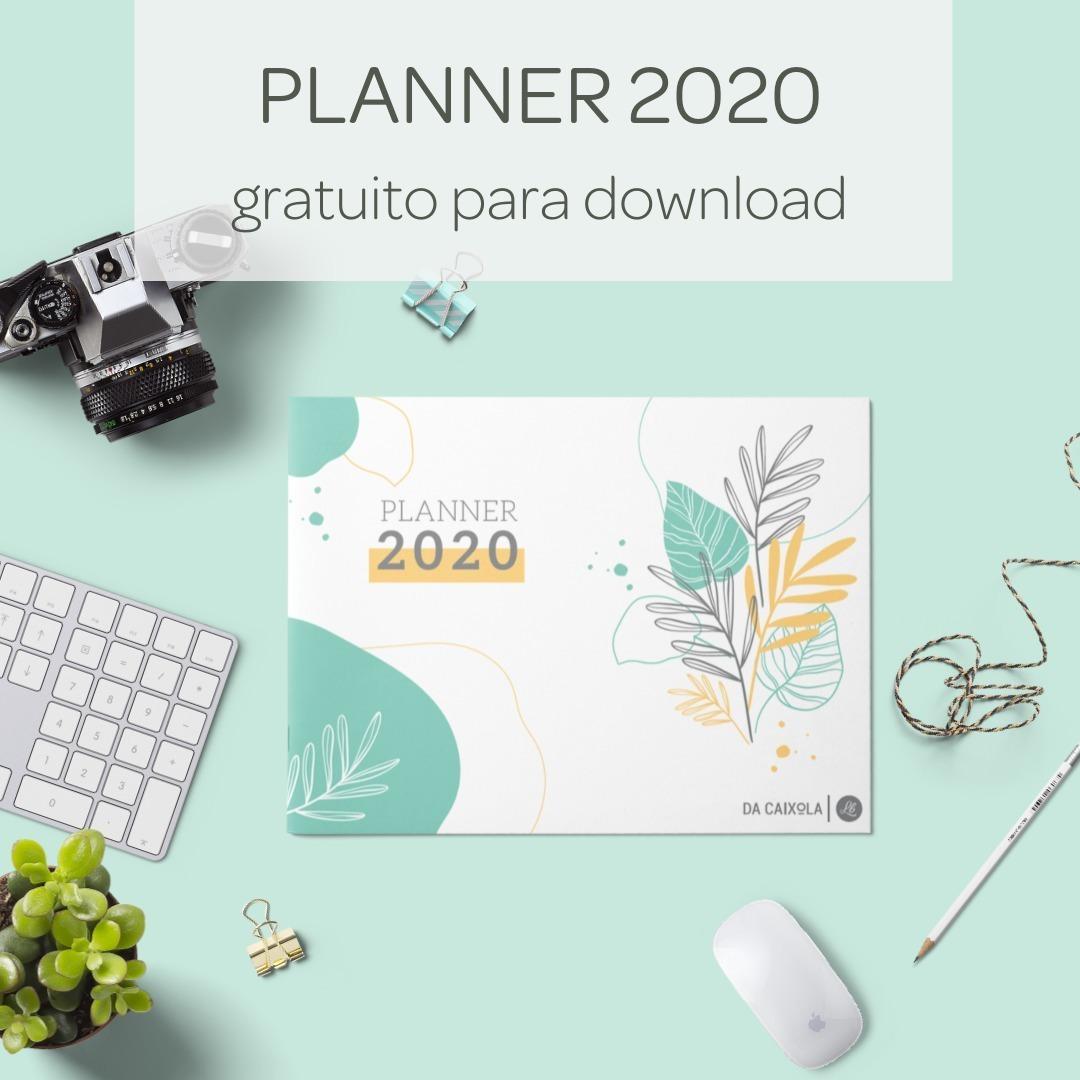 Planner 2020 grátis para imprimir
