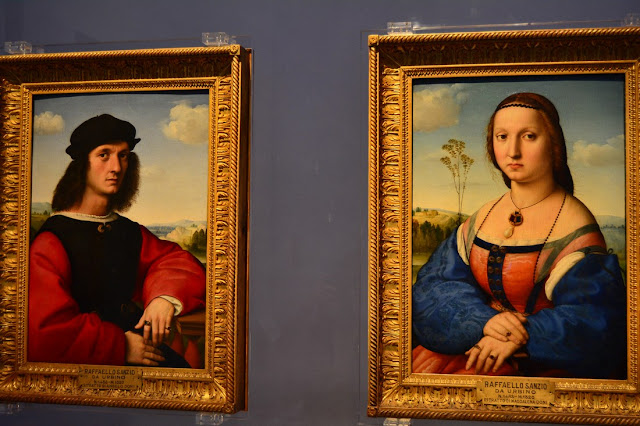 Raphaël - Portraits d'Agnolo Doni et Madeleine Strozzi - 1504