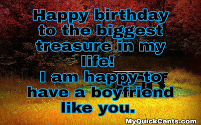 Birthday wishes for boyfriend