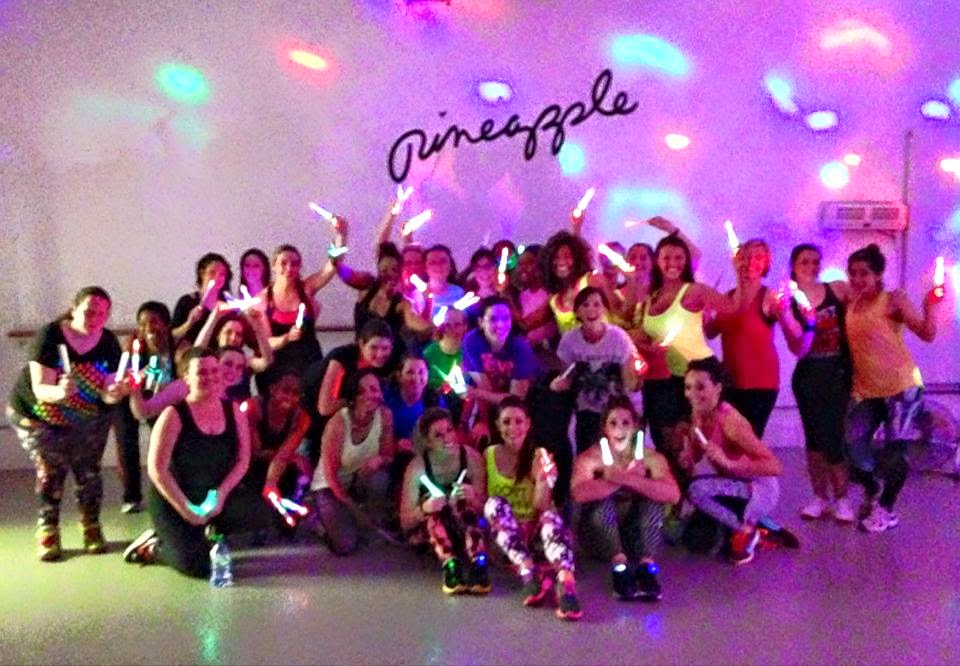 Clubbercise dance fitness class at Pineapple Dance Studio, London