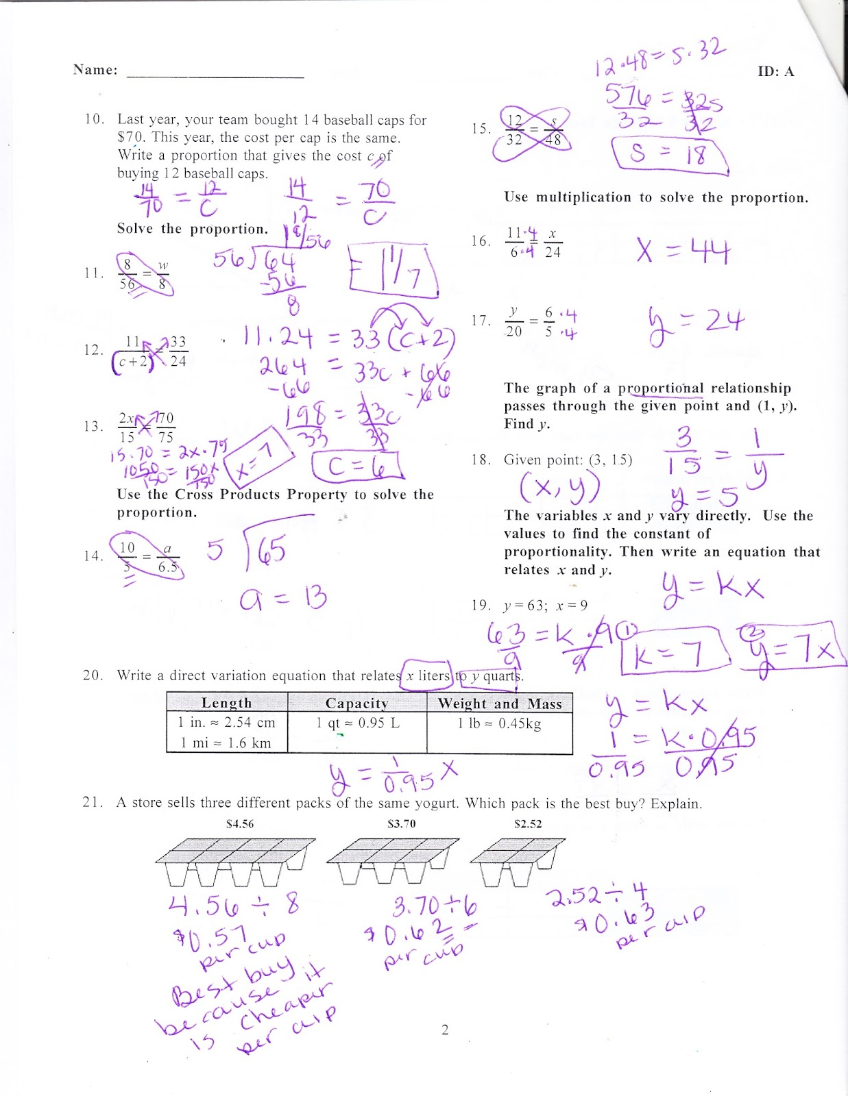 worksheet Direct Variation Worksheet With Answers ms jeans classroom blog january 2017 chapter 5 practice test answers